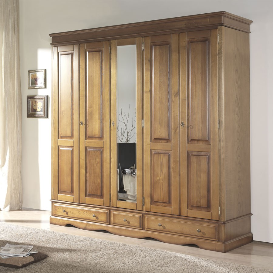 armoire chambre bois maison design. Black Bedroom Furniture Sets. Home Design Ideas