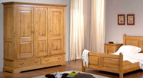 meubles bois massifs, meuble chêne massif, lit armoire massif