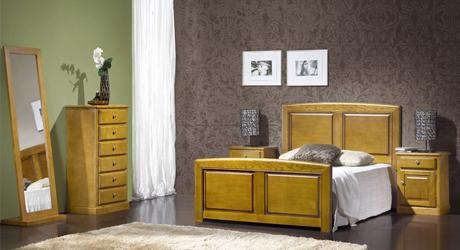 Meubles bois massifs meuble ch ne massif lit et armoire for Chambre adult complet