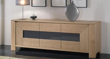 Table chaise salle manger meuble bois massif - Meubles en chene massif contemporain ...