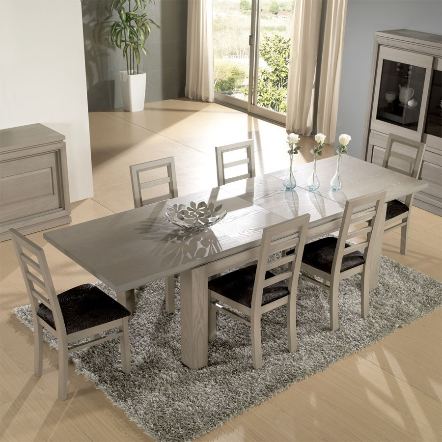 Table chaise salle manger for Table salle a manger massif