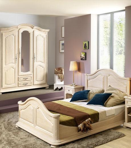 Chambre chene blanchi maison design for Armoire sarlat but