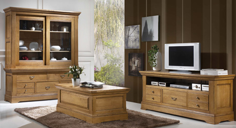 meuble tv massif moderne. Black Bedroom Furniture Sets. Home Design Ideas