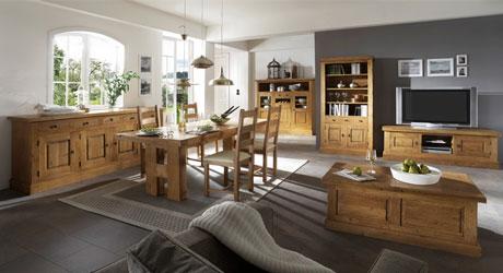 Meuble bois massif salon et s jour buffet enfilade bahut for Meuble sejour modulable